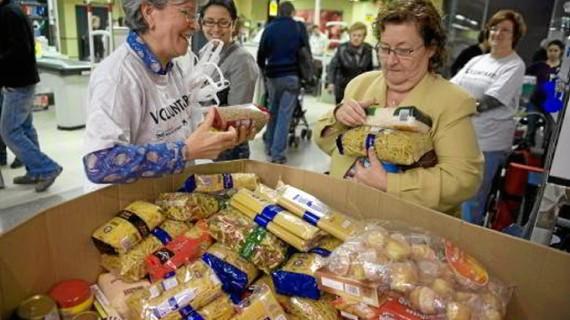 Gran recogida de alimentos en Zaragoza