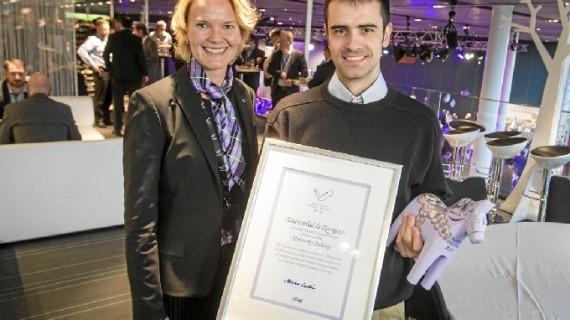 Un estudiante zaragozano premiado por el innovador diseño de un vehículo agrícola