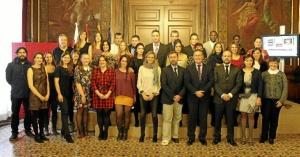 El equipo de jóvenes restauradores de la Escuela zaragozana. / Foto: Diputación de Zaragoza.