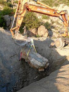 La elevación de la momia se extendió hasta 5 horas. / Foto: UNIZAR.