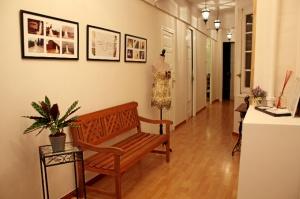 Pasillo principal en el estudio de Martha Peters. / Foto: Nerea Beatove.