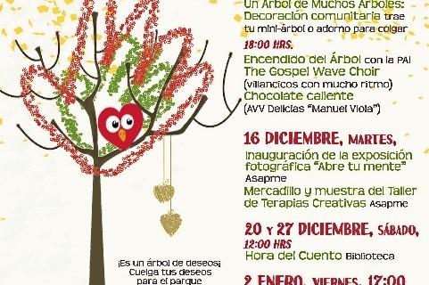 El barrio Delicias enciende su 'Árbol de la convivencia'