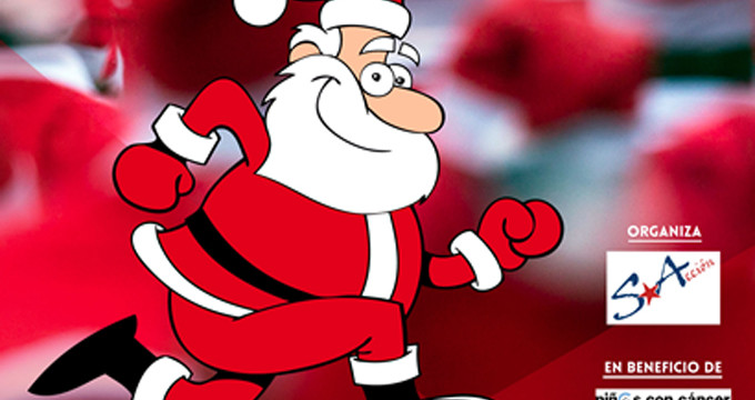 Zaragoza acoge una carrera solidaria con un toque muy navideño