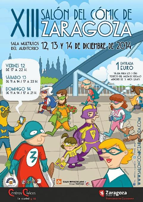 Cartel del XIII Salón del Cómic de Zaragoza.