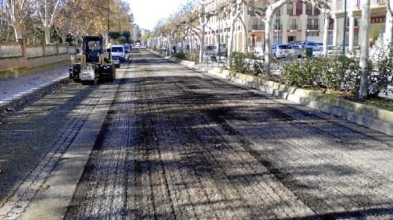 Ejea invierte 58.000 euros en su particular 'operación asfaltado' de varias de sus calles
