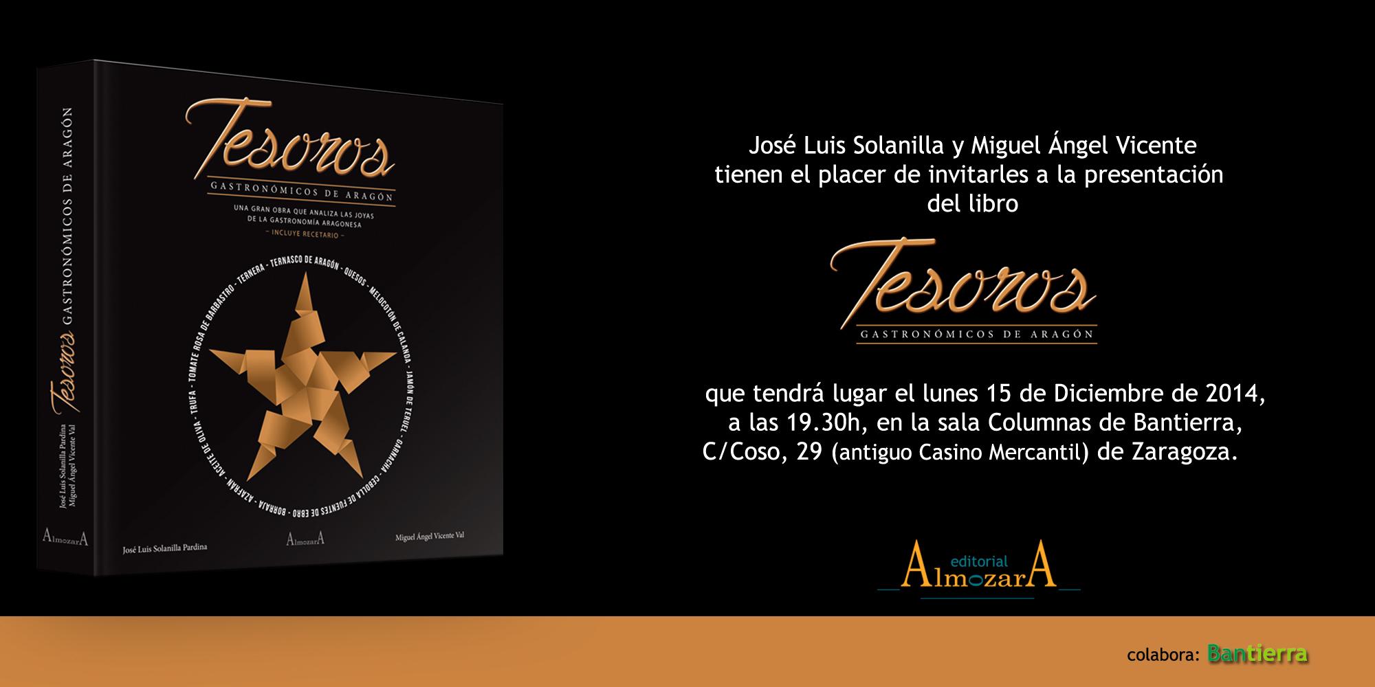 'Tesoros gastronómicos de Aragón', un libro  que refleja la riqueza de la despensa aragonesa
