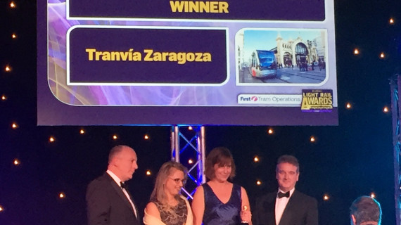 El Tranvía de Zaragoza, ganador del Premio al Medio Ambiente en los Global Light Rail Awards de Londres