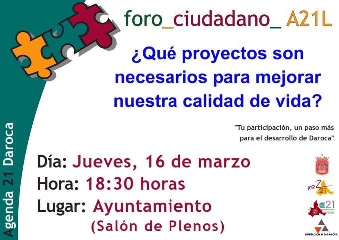 Foro de Participación Ciudadana en Campo de Daroca para conocer la Agenda 21 Local