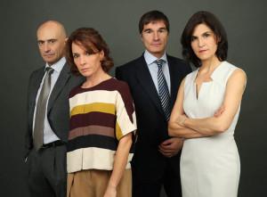Los actores de 'Mármol'.