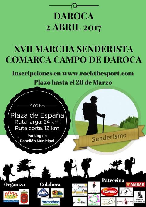 La XVII Marcha Senderista Comarca Campo de Daroca se celebrará el 2 de abril