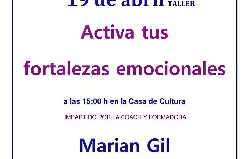 Marian Gil ofrece una conferencia sobre las fortalezas emocionales en Herrera de los Navarros