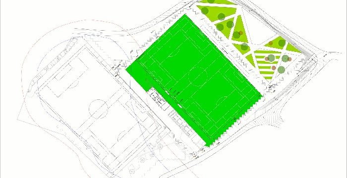 Licitado el contrato para la remodelación del campo municipal de fútbol de Casetas