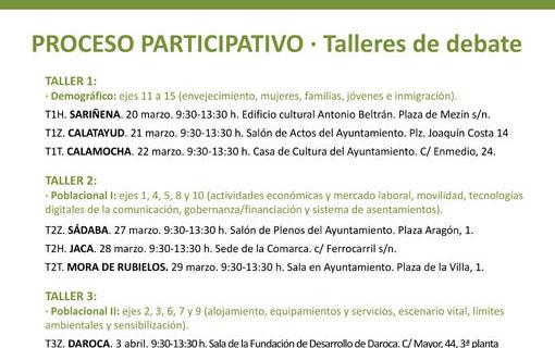 Daroca acoge un taller y debate sobre la despoblación el próximo 3 de abril