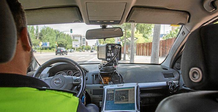 Campaña de vigilancia y control de velocidad en las calles del centro de Zaragoza