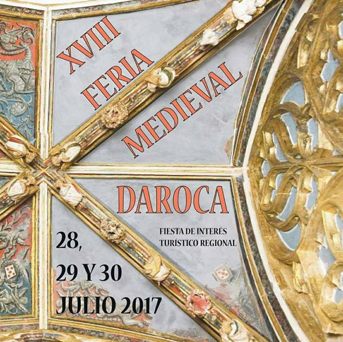 Recreaciones medievales y puestos artesanales en la XVIII Feria Medieval de Daroca