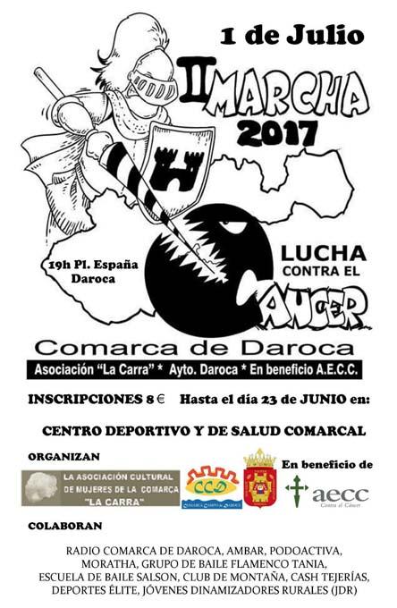 Daroca celebra el 1 de julio su II Marcha en lucha contra el cáncer
