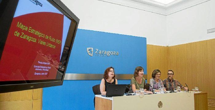 Presentado el nuevo Mapa Estratégico del Ruido de Zaragoza