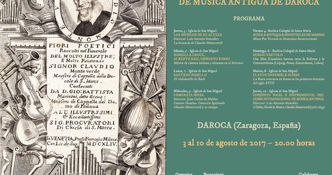 Daroca se prepara para su XXIX Festival Internacional de Música Antigua