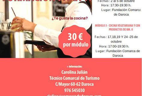 Tres módulos en formación gastronómica llegan al Campo de Daroca