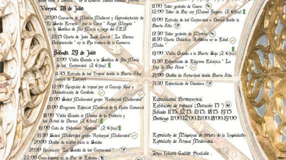 Daroca ofrece un amplio programa en su XVIII Feria Medieval