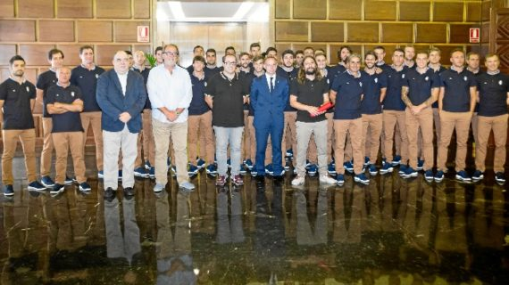 Recibimiento municipal al Real Zaragoza al inicio de la temporada