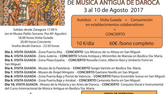 Viajes desde Zaragoza para disfrutar del XXXIX Festival Internacional de Música Antigua