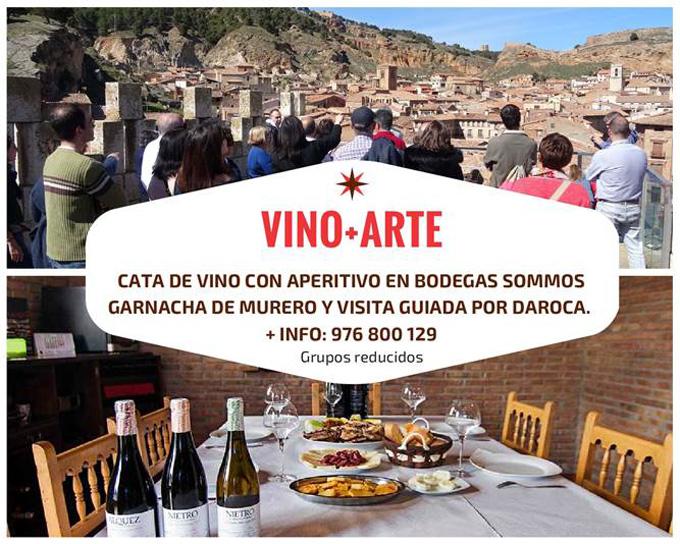 Una iniciativa turística propone conocer Daroca a través del Vino + Arte