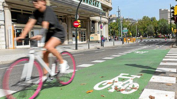 Abierto al tráfico el carril bici de la calle Sagasta