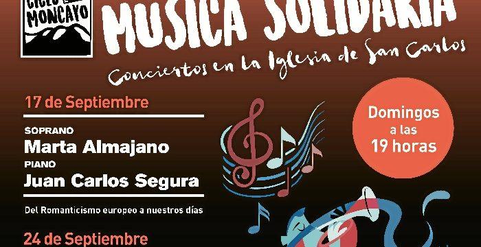 El Ciclo Moncayo de Música Solidaria lleva la música a la Iglesia de San Carlos
