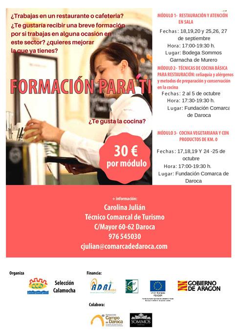 Campo de Daroca ofrece formación en hostelería y restauración