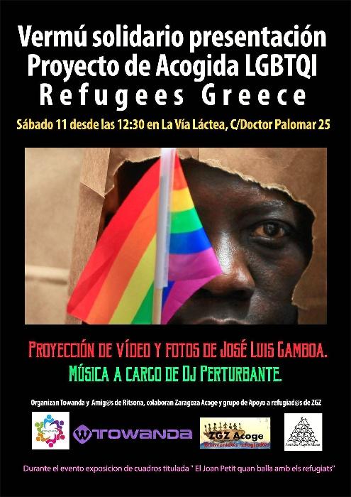 Zaragoza apoya al colectivo de personas LGTBQI refugiadas en Grecia con una jornada solidaria