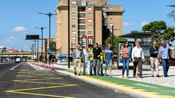 Las obras de remodelación parcial de la Avenida de Cataluña, muy cerca de su finalización