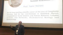 Premio internacional a Yamir Moreno, físico teórico y director del Bifi de la Universidad de Zaragoza.
