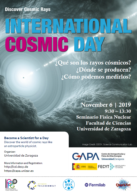 Cartel del International Cosmic Day 2019.