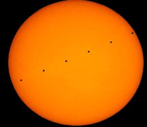 tránsito de Mercurio delante del Sol