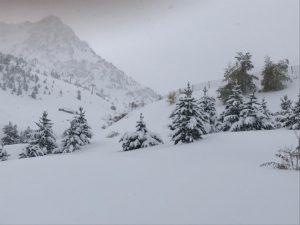 La nieve ya cubre la estación de Aramon Formigal-Panticosa en Huesca.