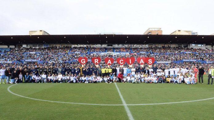 Aspanoa celebró en La Romareda un partido contra el cáncer infantil.