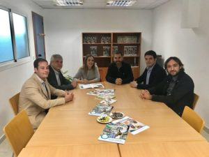 Visita de la consejera Díaz a la sede de Aspanoa.