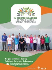 Cartel del IV Congreso Aragonés de Personas con Cáncer y Familiares.
