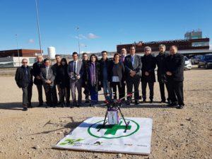 Presentación del proyecto Pharmadron, de reparto de medicamentos mediante drones.