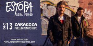 Estopa celebra un concierto en Zaragoza el 13 de diciembre.