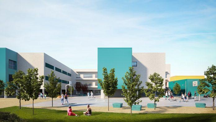 nuevos centros educativos de Aragón en construcción