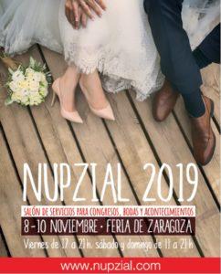 Cartel del Salón Nupzial de Zaragoza 2019.