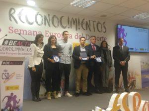 Javier de Diego recibe en Madrid el reconocimiento de la CSD por la contribución de Aragón a la Semana Europea del Deporte