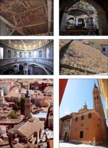 Imágenes de la Colegiata Santa María la Mayor de Calatayud.