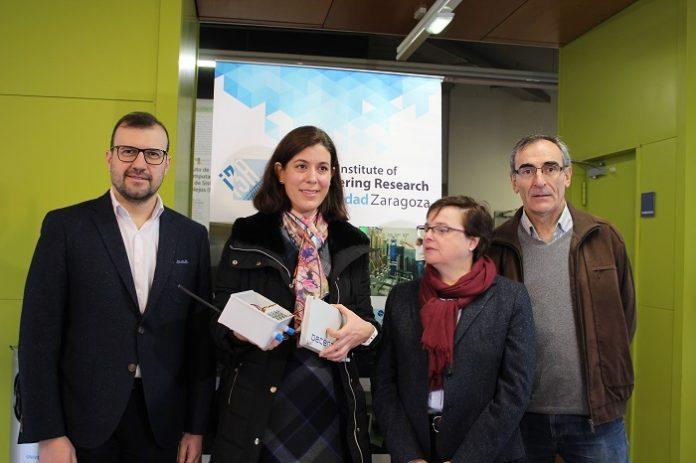 La Universidad de Zaragoza muestra los sensores que se colocarán para medir la calidad del aire.