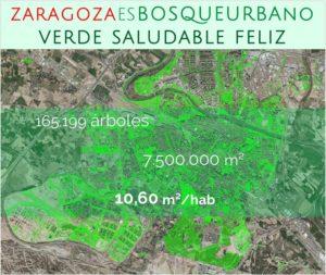 Así es el bosque urbano de Zaragoza.