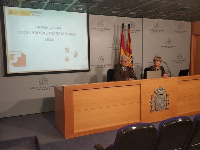 Envío de informes de vida laboral a los trabajadores de Zaragoza