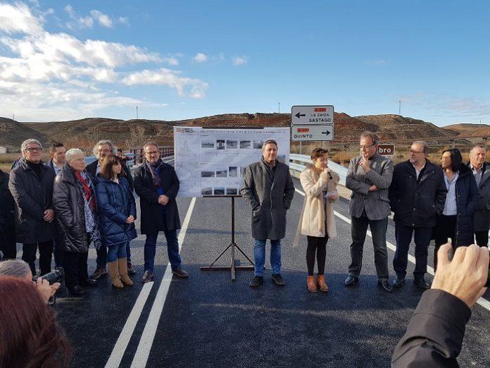 Reabre al tráfico el puente de Gelsa tras un año en obras