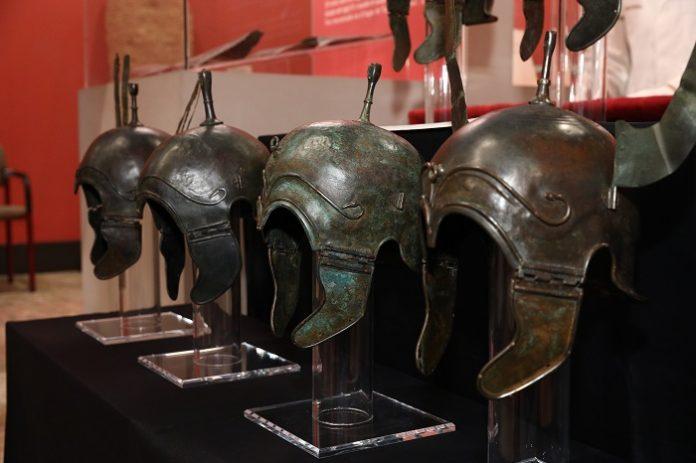 Los cascos celtíberos recuperados ya se encuentran en el Museo de Zaragoza.